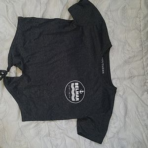 Grey cropped t-shirt